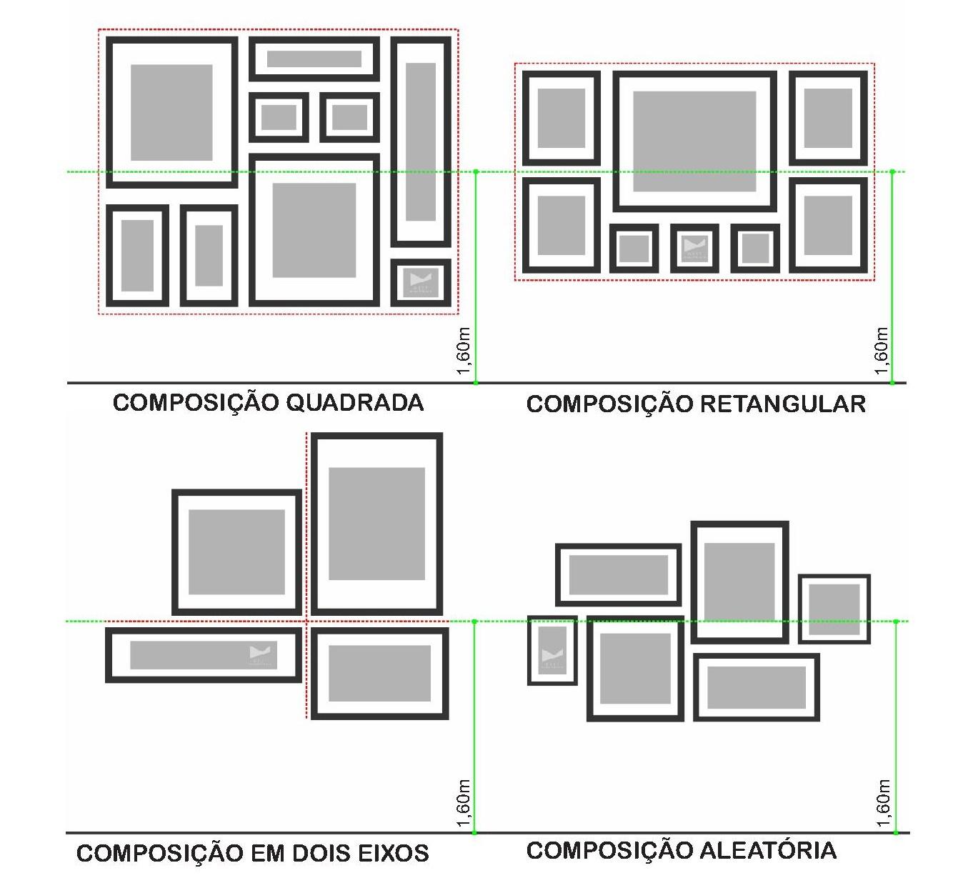 Disposições de quadros